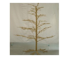 Gold effect metal christmas trees