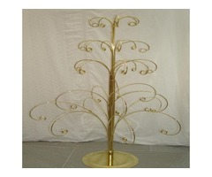 Gold effect metal christmas trees | FreeAds.info