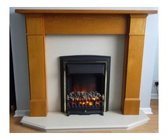 Electric living flame fire and surround