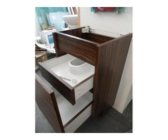 walnut vanity unit
