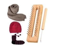 Wooden Scarf Hat Socks Wool Yarn Knitting Loom DIY Craft Wooden Weaving Tools Kit