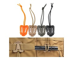 IPRee Elastic String Clip Molle Attaching Clamp Retaining Clip Money Clip-On Buckle Outdoor Camping
