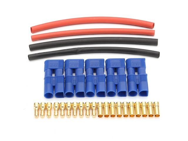 5 Pairs EC3 Connectors Lipo Battery Connector & Heat Shrink | FreeAds.info