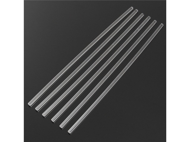 6Pcs 300×6mm Transparent Acrylic Round Rod Solid Rod | FreeAds.info