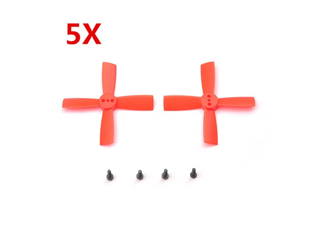 5 Pairs Eachine 2035 50mm 4 Blade Propellers ABS For Eachine Aurora 90 100 Mini FPV Racer RC Drone | FreeAds.info