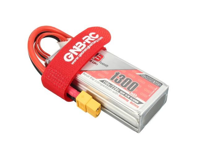 Gaoneng GNB 11.1V 1300mAh 3S 110/220C Lipo Battery XT60 Plug | FreeAds.info