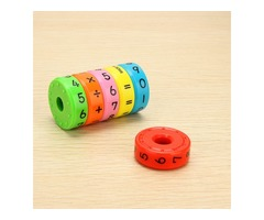Magnetic Math Cylinder Abacus Study Article Intelligence Enlighten Kids Toy Gift