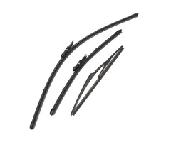 Two Front Wiper Blades & One Rear Wiper Blade For Nissan Qashqai 2007-2013