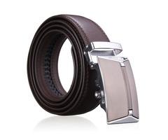Men Second Floor Cowhide Leather Belt Automatic Buckle Black Brown Waist Strap Waistband