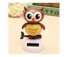 Solar Powered Owl Dancing Flip Flap Swinging Shook His Head Doll