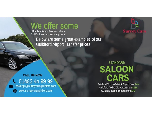 Guildford to St.Pancras Standard Saloon Cars  | FreeAds.info