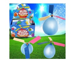 20X Colorful Traditional Classic Balloon Helicopter Portable Flying Toy