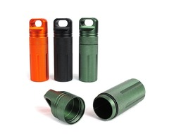 IPRee™ Outdoor CNC Waterproof Pill Storage Case EDC Seal Canister Survival Emergency Container