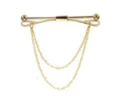 Men Silver Gold Necktie Tie Clip Bar Clasp Cravat Pin Skinny Collar Brooch Suit Accessories