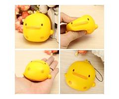 Squishy Yellow Duck Soft Cute Kawaii Phone Bag Strap Toy Gift 7*6.5*4cm