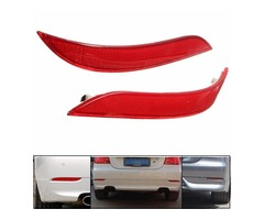 Pair Red Rear Bumper Reflector Light For BMW 5 Series E60 525i 528i 530i 535i 545i