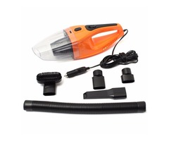 Mini Portable Car Vehicle Handheld Vacuum Cleaner Wet and Dry Orange 12V 100W