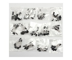 Total 130Pcs 13 Values Each 10Pcs 0.1uf-470uf Electrolytic Capacitor Assortment Set