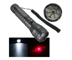 2-in-1 7LED 1W Portable Laser Pointer + LED Flashlight AA