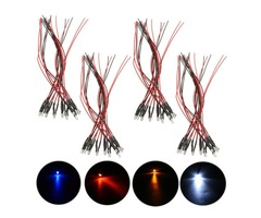 10pcs 3mm Pre Wired Constant LED Diode Ultra Bright Transparent Clear Bulb DC12V