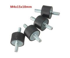 4pcs M4 15x10mm Doubles Ends Rubber Mounts Anti-vibration Rubber Mounts