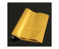 50pcs A4 Hot Stamping Transfer Foil Paper Laser Printer Laminating Transfered Gold