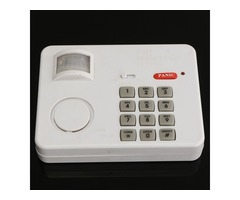 PIR Wireless Motion Sensor Alarm with Security Keypad for Home Door Garage Shed