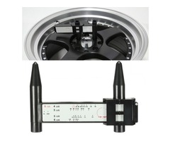 4 5 6 8 Lug Wheel Bolt Pattern Gauge Tool Quick Measuring Measurement Black