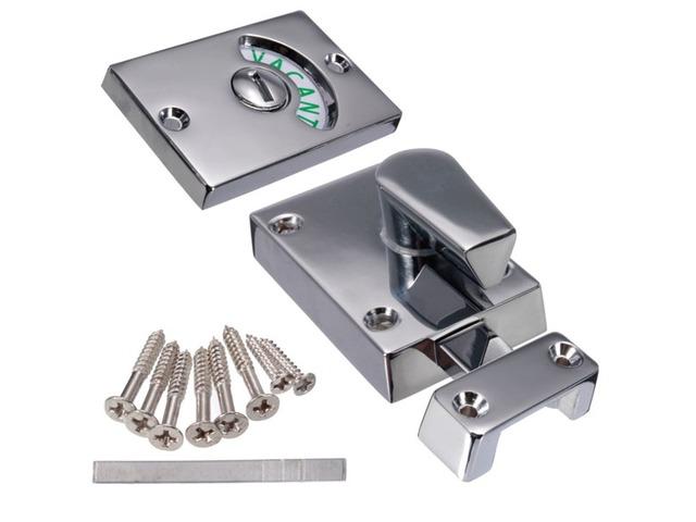 Nickel Drawing Chroming Bathroom Toilet Door Lock Indicate Door Bolt   FreeAds.info