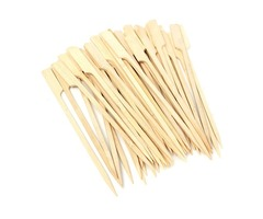 30Pcs 20cm BBQ Bamboo Skewers Wooden Grill Sticks Meat Food Long Skewers Barbecue Grill Tools