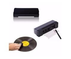 Record Cleaning Kit Velvet Brush Stylus Cleaner Anti Dirt Dust Brush Black