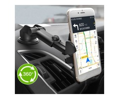 2 In 1 Multifunctional Car Air Vent Front Glass Instrument Desk Sucker Phone Holder for Phone 3-6.5