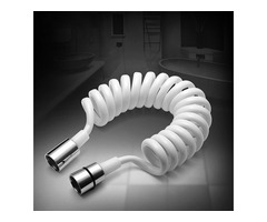 KCASA™ 1.8m PVC Spring Flexible Retractable Hose For Shower Head Toilet Bidet Shower Water Pipe