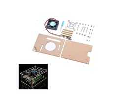 Geekcreit® Transparent Acrylic Case + Cooling System External Fan + Screwdriver Tool For Raspberry P