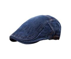 Unisex Beret Peaked Cap Jean Cowboy Hat Washed Denim Cotton Advance Casual Hats