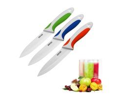 SURVEN 5 Inch Ceramic Knife Paring Fruit Vegetable Utility Chef Ceramic Knife