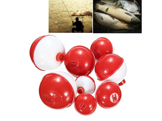 ZANLURE 8Pcs/lot Assorted Sizes Fishing Bobber Round Floats Combo Tackle Assortment   FreeAds.info