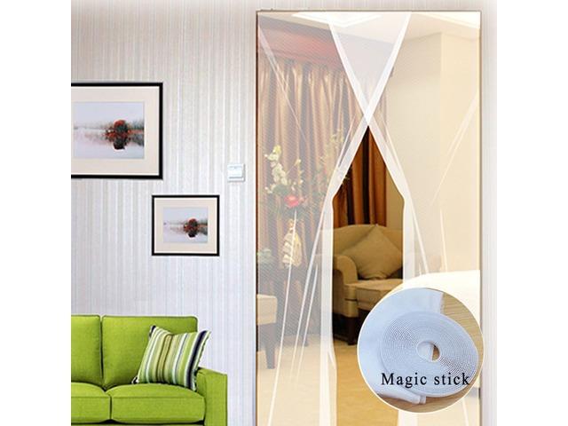 2pcs 31x83 Inch DIY Window Door Anti Mosquito Pest Curtain Net Mesh Sheer Curtain Protector | FreeAds.info