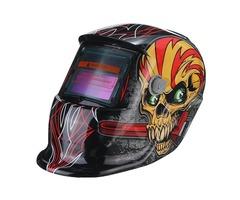 Red Skull Solar Auto Darkening Welding Helmet TIG MIG Weld Welder Lens Mask