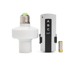 E27 Screw Wireless Remote Control Light Lamp Bulb Holder Cap Switch Socket