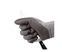 ZANLURE Cut Resistant Gloves Level 5 Protection Food Grade EN388 Certified Safety Gloves for Outdoor