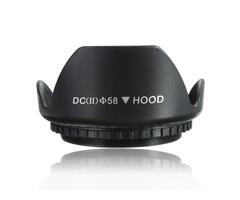 58mm Petal Flower Lens Hood For Canon 700D 100D 650D 600D 550D 1200D 1100D Black