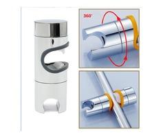 Bathroom ABS Chrome Finished Shower Head Slider Rail Holder Adjustable Bracket