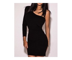 One Sleeve Bodycon Dress