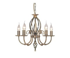 Artisan 5 Light Chandelier - Aged Brass