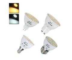 E27 E14 GU10 MR16 3.5W 60 SMD 2835 LED Warm White White Spot Lightt Lamp Bulb DC12V