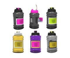 2.2L Big Large BPA Free Sport Gym Training Drink Water Bottle With Storage Case