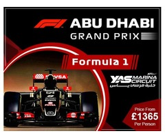 Book abu dhabi grand prix holiday packages and abu dhabi gp packages