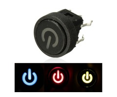 Power Symbol Latching Switch LED Light Push Button SPST | FreeAds.info