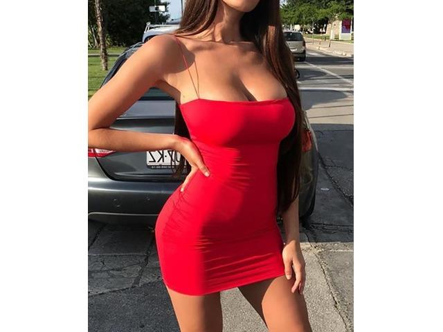 Seductive Solid Spaghetti Strap Bodycon Dress | FreeAds.info